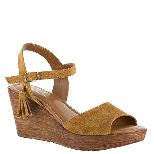 Bella Vita Women's Ali-Italy Tobacco Suede Leather Sandal