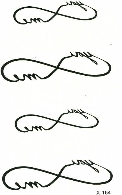 Just Fox – temporäres Tattoo Amor Infinito infinity: Amazon.es ...