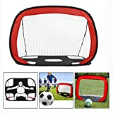 OFKPO Folding Portable Football Training Target Net For Children Or Kids Soccer Goal for Kids Backyard