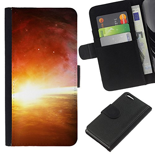 Funny Phone Case // Cuir Portefeuille Housse de protection Étui Leather Wallet Protective Case pour Apple Iphone 5C /Bel espace Glow/