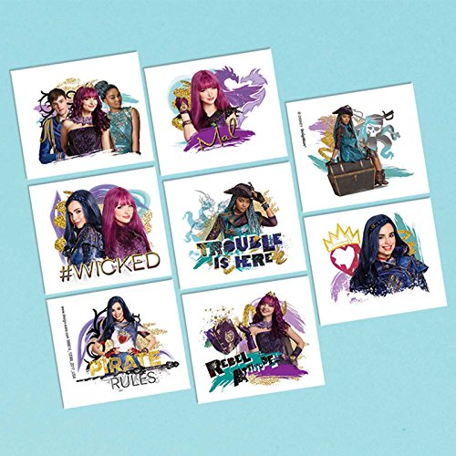 Amscan Tattoo Favor | Disney Descendants 2 Collection | Party Accessory