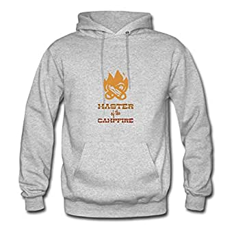 Cotton Diatinguish Master Of The Campfire Women Customizable X-large Hoody Grey