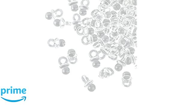 100 chupetes Transparentes Mini dekos – 2 cm – Chupete para la Baby ...