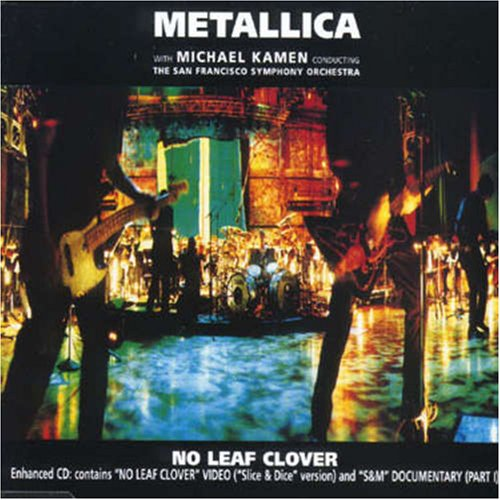 No leaf clover music sheet and notes by metallica @ musicnoteslib. Com.