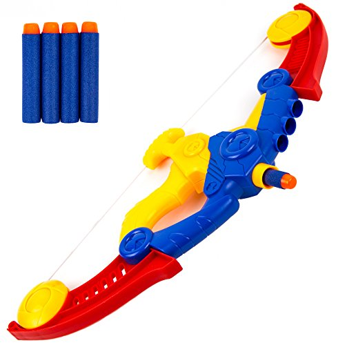 Toysery Bow & Arrow Archery Set Toy for Kids with 4 Darts Arrows - Foam Bow & Arrow Archery Set]()