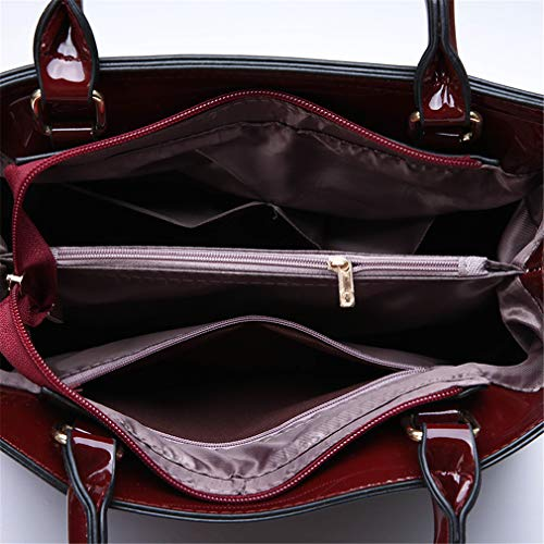 Diseñador Black Bag Messenger pcs 13cm 3 3 Black Bolsos Mujer 23cm Set Zipper 31cm 4fnIwqB