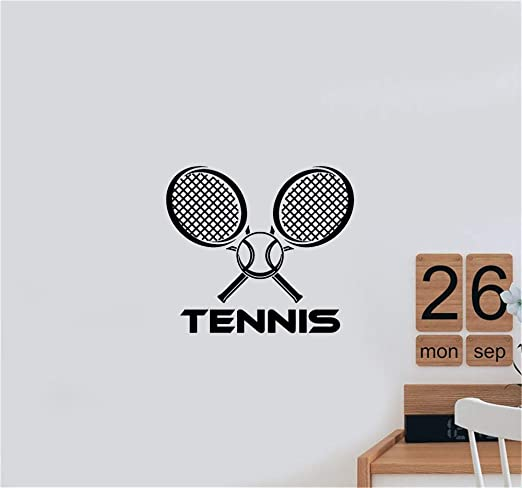 etiqueta de la pared decoración Raqueta de tenis pelota raqueta ...