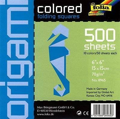 Folia Origami School Pack - 6 Inch Square Sheets - 500 Sheet