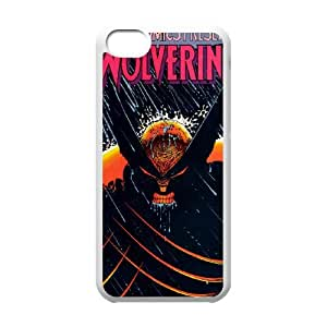 iPhone 5c Cell Phone Case White Wolverine wsgs