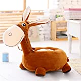 MeMoreCool Adorable Little Donkey Preschool Kindergarten Kids Plush Chair,Animal Sofa Chair,Gifts for Children Boys and Girls on Christmas Birthday,Brown