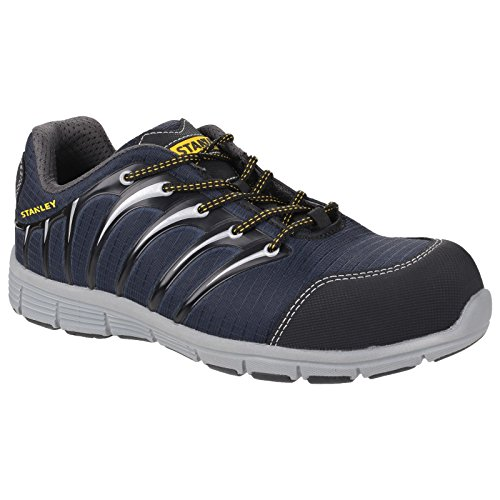 Stanley Mens Globe Sport Slip Resistant S1 P Safety Trainers Navy/Grey