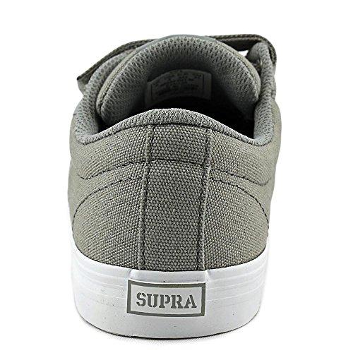 Supra Unisex-Kinder Stacks II Vulc Velcro Sneaker Grey/White