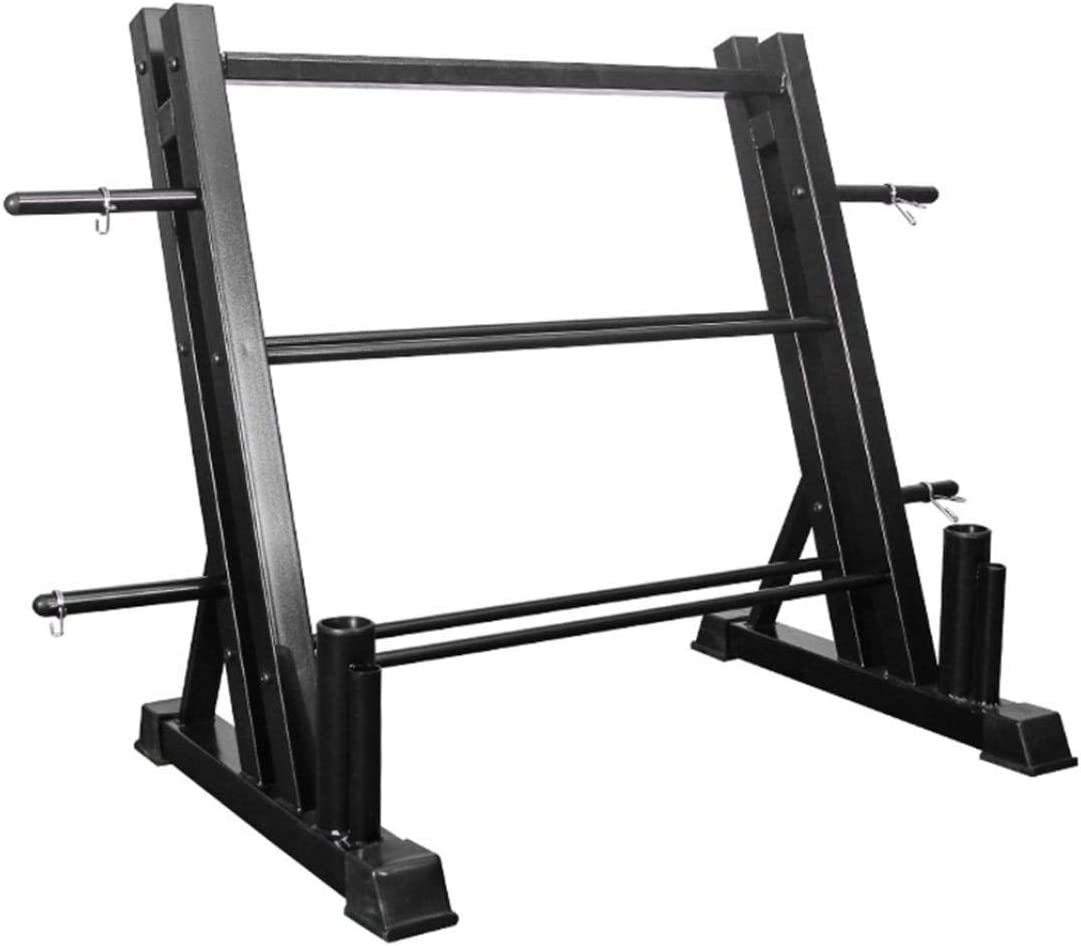 YOG 3 Tier Metal Steel Dumbbell Weight Rack Board Weight Storage Stand Dual Vertical Bar Rack for Home Gym Workout Max 1100LB
