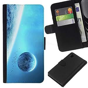 A-type ( Galassia Stelle 7) Colorida Impresión Funda Cuero Monedero Caja Bolsa Cubierta Caja Piel Card Slots Para Sony Xperia Z1 L39