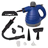 Lucky Tree Handheld Steam Cleaner Multi-Purpose Pressurized With 9 Accessories For Stain Removal (blue)