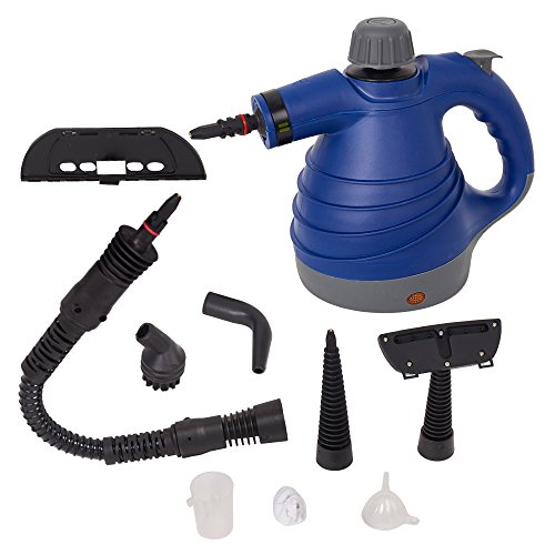 Lucky Tree Handheld Steam Cleaner Multi-Purpose Pressurized With 9 Accessories For Stain Removal (blue) by Lucky Tree