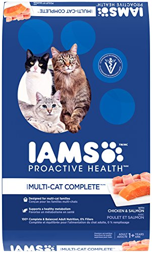 IAMS PROACTIVE HEALTH Multi-Cat Complete With Salmon and Chicken Dry Cat Food 22 Pounds