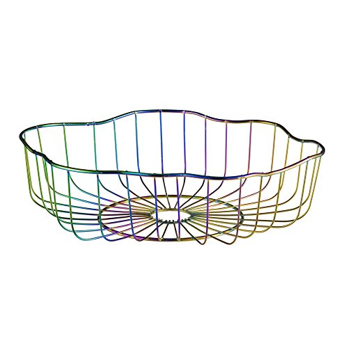 Design Ideas Glimmer Centerpiece Bowl, Large Steel Wire Decorative Bowl, Multi-Colored/Iridescent for $<!--$50.00-->