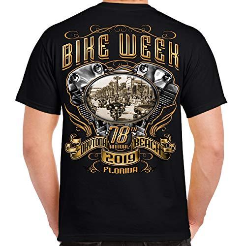 Biker Life Clothing 2019 Bike Week Daytona Beach Main Street Engine T-Shirt