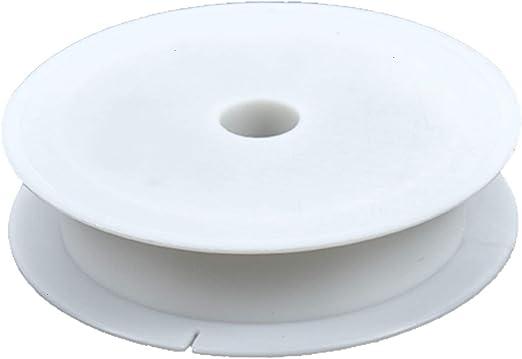PH PandaHall 20pcs 1.5 Inch White Plastic Spools Empty Wire Spools Thread String Bobbin for Craft Cord Rope Chain Roll