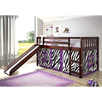 Twin Mission Zebra Tent Loft Bed with Slide
