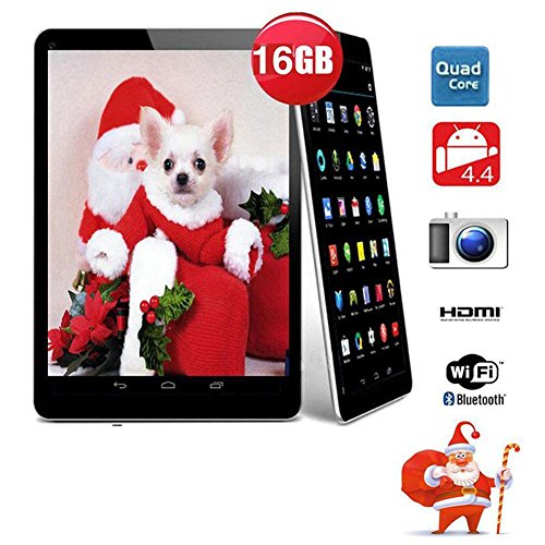 9'' inch Android Tablet PC,1GB RAM 16GB Storage Phablet Tablet Quad Core Unlocked Tablets, Dual Camera Sim Card Slots, WiFi, GPS, Blue-Tooth 4.0,800 480 HD IPS Screen Display, Google Play by XINSC (Image #1)