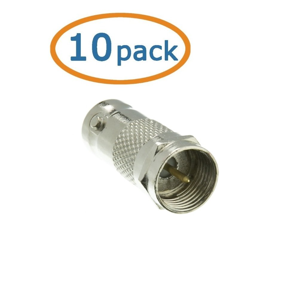 BNC Female to F-pin Male Adapter ACLgiants, 10 PACK