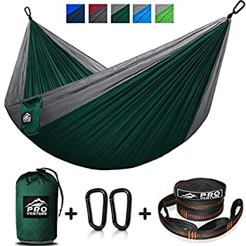 Backpacking Great for Travel Premium Lightweight Aluminum Carabiners Biking and the Beach Lightweight Nylon Camping Hammock Attached Storage Bag Includes 10 Tree Straps Deytime Designs