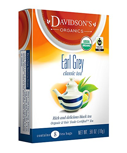 Davidson's Tea Earl Grey, 8-Count Tea Bags (Pack of 12)