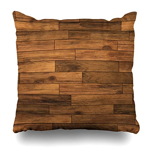 - Ahawoso Throw Pillow Cover Structure Brown Wood Chestnut Laminate Flooring Abstract Panel Floor Wooden Pattern Parquet Oak Home Decor Pillowcase Square Size 18