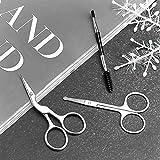 Eyebrow Scissors,Hizek 3 in 1 Eyebrow