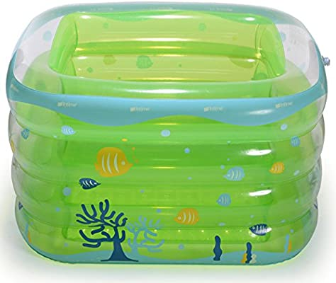 Piscina Hinchable Para Bebés Bañera Cuadrada Aislada Con Baño ...