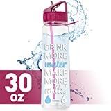 how much water should i drink - vBU Water Bottle for Breastfeeding Moms 30 oz Goal Marked Time Water Tracker Measure Water Intake Daily