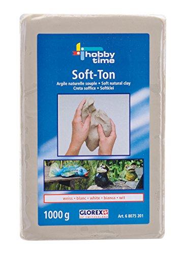 Glorex 68075201 - Soft-Ton weiss 1000 Gramm