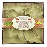 Fox Run 3641 Dinosaur Cookie Cutter Set, Stainless Steel, 5-Piece