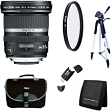 Canon EF-S 10-22mm f/3.5-4.5 USM SLR Lens for EOS Digital SLRs w/ 77mm Multicoated UV Protective Filter, Deluxe Bag, Memory Card Wallet, USB 2.0 Card Reader, Professional Tripod
