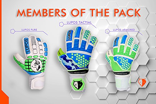 Goalie Gloves Youth, Kids, Adult - Lupos Armored  Goalkeeper