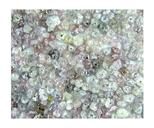 Natural Loose Diamond Uncut Rough Drilling Pink & Ice Grey Bead 100 Pieces Lot Q124-2