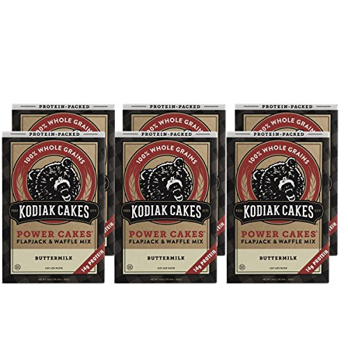 Kodiak Cakes Protein Pancake Power Cakes, Flapjack and Waffle Baking Mix, Buttermilk, 20 Ounce (Pack of - Pancake Mix Grain Whole