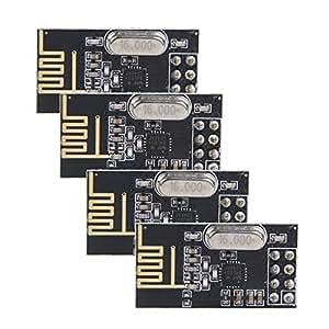 NRF24L01+ Antenna Wireless Transceiver Module - TOOGOO(R) 4pcs NRF24L01+ 2.4GHz Antenna Wireless Transceiver Module for Arduino New