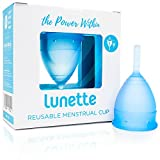 Lunette Menstrual Cup - Blue - Reusable Model 1 Menstrual Cup for Light Flow