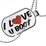Dogtag I Love U Boot Cocktail Dog tags necklace - Neonblond
