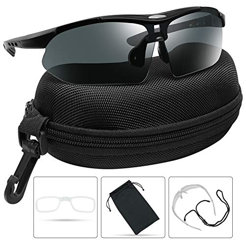 XAegis Polarized Sunglasses for Men Women Sport Glasses for Cycling Fishing Driving Running Golf Baseball - UV Protection Tactical Sunglasses with Case (Best Cheap Cycling Glasses)