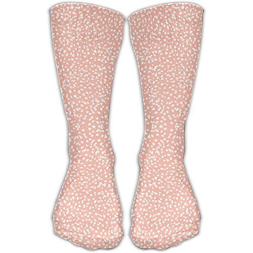 Sock Painted Dots Blush Dots Painted Girls Blush Coordinate Unisex Outdoor Adult Sport Over-The-Calf Long Tube Stockings Crew Socks 30cm(11.81in) One Size (Painted Blush)