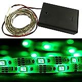 iNextStation 50CM 5050 SMD 30LED Flexible Waterproof Strip Light 5V Battery Box Lamp (0.5M, Green)