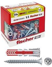 Fischer Duopower Pluggen met schroef, grijs, 544015