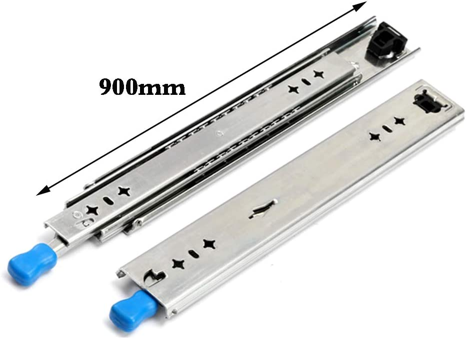 Poids De 120 Kg Taille Tr/èS Longue Verrouillage Bidirectionnel /éViter Les Chutes Plus S/ûR Drawer Slides Coulisses De Tiroir Robustes