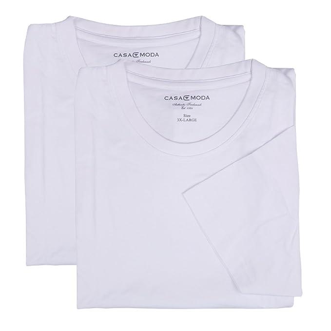 Casa Moda XXL Camisetas blancas - Paquete de dos: Amazon.es: Ropa y accesorios