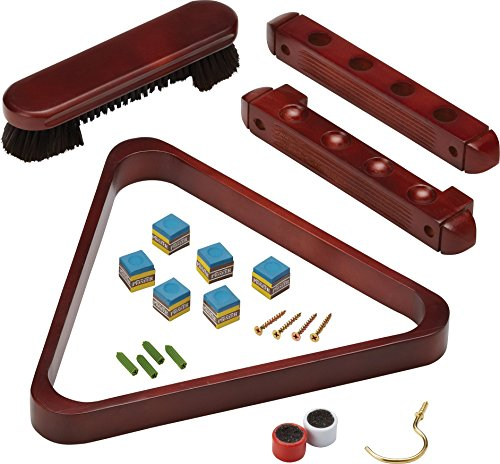 - Fat Cat 2-Piece Wall Mounted Billiard/Pool Cue Rack and Accessory Set
