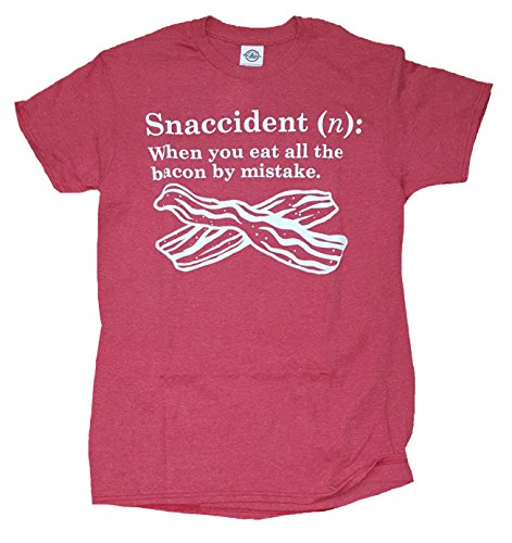 (Bacon Snaccident Definition Red Graphic T-Shirt - X-Large)